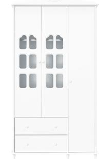 Guarda-Roupa 3 Portas Provence Branca-Acetinado Matic Móveis
