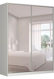 Guarda-Roupa Solteiro Com Espelho Tunas Iv 2 Pt 3 Gv Branco