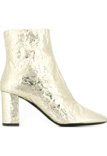 Saint Laurent Ankle Boot Lou - Dourado