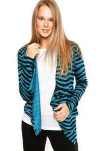 Cardigan Sofie Zebra Azul