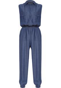 Macacão Feminino Jeans - Azul
