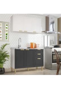 Cozinha Completa 2 Peã§As Americana Multimã³Veis 5923 Branco/Grafite - Branco/Incolor - Dafiti