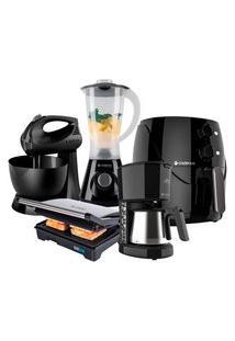 Kit Cozinha Completa Black Inox Cadence - 220V