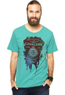 Camiseta Manga Curta Cavalera Mancha Verde