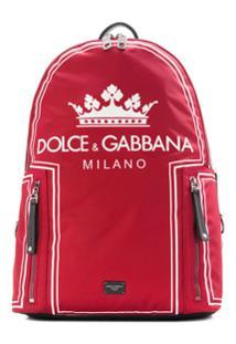 Dolce & Gabbana Mochila Com Logo - Vermelho