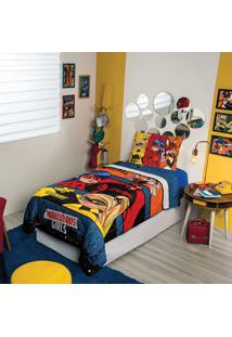 Edredom Solteiro Estampado Ladybug 1,50 M X 2,00 M Com 1 Peça Lepper Azul