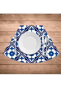 Jogo Americano Para Mesa Redonda Wevans Tile Blue