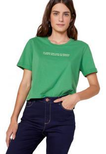 Amaro Feminino T-Shirt If Crop, Verde