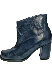 Bota Thádiva Ankle Boot Petrópolis Azul Marinho