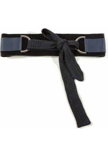 Cinto Cintura Amarracao Trico Azul
