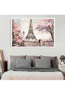 Quadro Love Decor Com Moldura Primavera Em Paris Branco Grande