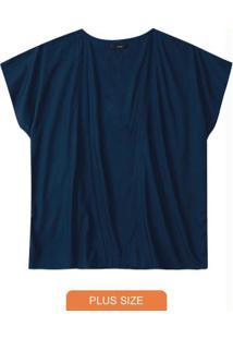 Quimono Azul Marinho Em Viscose