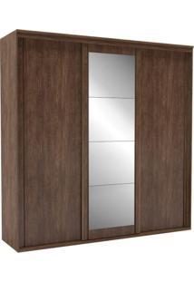 Guarda Roupa Casal Com Espelho 3 Portas 6 Gavetas 227Cm Inovatto Belmax Marsala