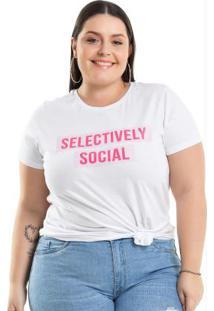 1991d18c7a5e ... Blusa Selectively Social Branco Miss Masy Plus
