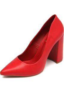 Scarpin Thelure Liso Vermelho