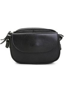 Bolsa Anacapri Mini Bag Pqn Eco Vene Feminina - Feminino-Preto