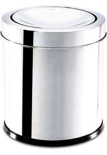 Lixeira Com Tampa Basculante- Inox- 17Xø15,5Cm- Brinox