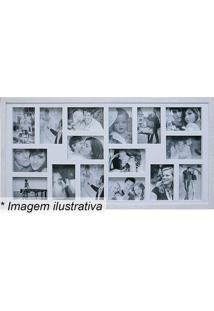 Painel Para 16 Fotos- Branco- 43X83X3Cmkapos