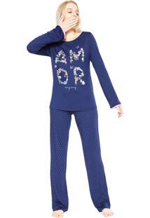 Pijama Any Any Jazz Amor Azul