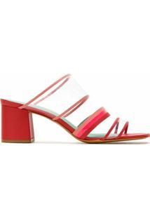 Blue Bird Shoes Sandália Plastic De Tiras - Vermelho