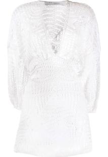 Iro Vestido Mini De Crochê - Branco