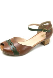 Sandalia Retro Miuzzi Ref: 3120 Chocolate