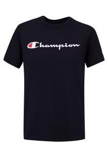 Camiseta Champion Script Logo Ink - Feminina - Preto