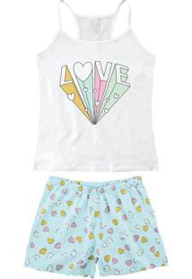 Pijama Branco Nadador Love