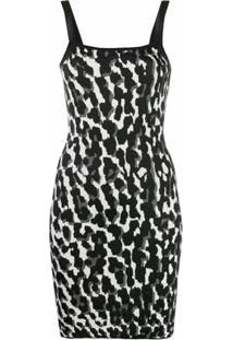 Just Cavalli Slip Dress Com Animal Print - Preto