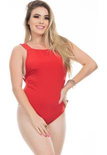 Body Clara Arruda Decote Quadrado 17012 Vermelho - Vermelho - Feminino - Dafiti