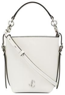 Jimmy Choo Small Varenne Bucket Bag - Branco