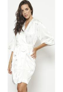 Robe Texturizado- Off Whitefruit De La Passion