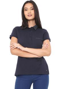 Camisa Polo Dudalina Poás Azul-Marinho