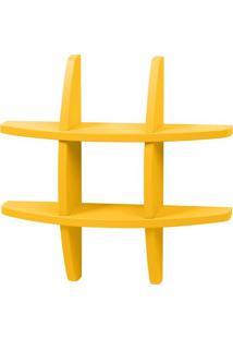 Prateleira Retrô Pequena Amarela