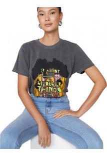 Camiseta Amaro Alongada Wild Feminina - Feminino