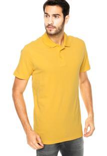 Camisa Polo Coca-Cola Jeans Bordada Amarela