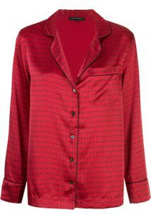 Kiki De Montparnasse Conjunto De Pijama Com Padronagem De Algemas - Vermelho