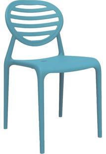 Cadeira Stripe Sem Braço Azul
