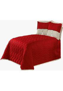 Cobre Leito Kit Irlanda Casal Queen 5 Peã§As Vermelho - Multicolorido - Dafiti