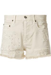 Faith Connexion Short Jeans Slim Destroyed - Neutro