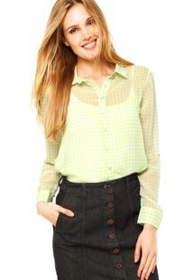 Camisa Manga Longa Clothing & Co. Petra Verde