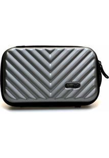 Mini Bag Bolsa Tictactoo Transversal Pochete Feminina - Feminino-Cinza Claro