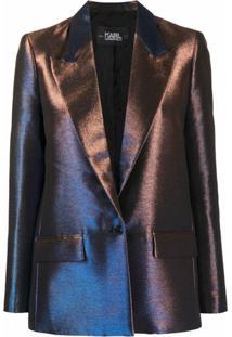 Karl Lagerfeld Blazer Furta-Cor - Azul