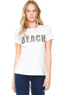Camiseta Lunender Glitter Branca