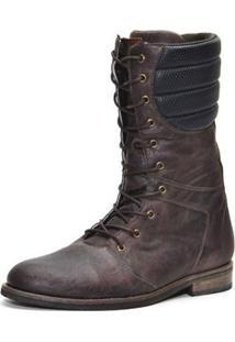 Coturno Shoes Grand Cano Alto Masculino - Masculino-Marrom