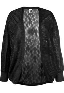 M Missoni Metallized Zigzag Cardigan - Preto