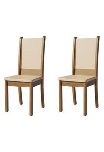 Kit 2 Cadeiras 4232 Madesa Rustic/Crema Rustic