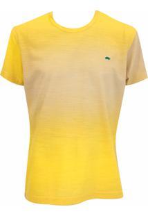 Camiseta Pau A Pique Tie Dye Amarelo