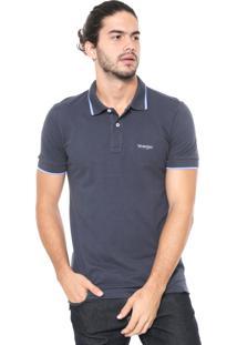 Camisa Polo Wrangler Logo Azul-Marinho