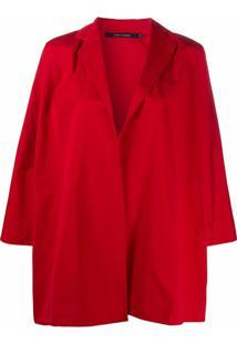Sofie D'Hoore Casaco Oversized Com Abertura Frontal - Vermelho